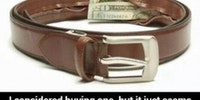 Store your money in your belt