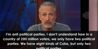 Jon Stewart on political parties