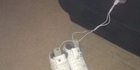 My friend's kid is charging his shoes via their couch. The future is a weird place…