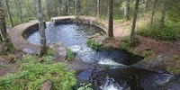 Somebody made a natural swimming pool in the forest about a century ago. Oslo, Norway.
