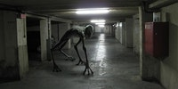 The parking garage lurker will kindly lead you to the next available parking spot.