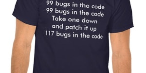 99 bugs in the code. Take one down and patch itt̸-̨̦̙̱̹̖̩-̢̪-̡̦͔w͈͜ha͇̫͍̘t̝̣ ̛̙͓̬t̵̞h̵ę̠͍̠ ̻̼̟̲͖̀f̡̱u̢̻̣̝̳̰c̟̟̼̤k̜̝̰̝͖̮̥͢?̬͎ͅ!̷̯̠