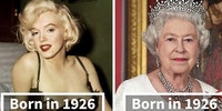 Marilyn Monroe and Elizabeth Alexandra Mary were both born in 1926