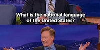 The National language of the United States.