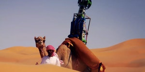 Google Maps used a Camel to map the Arabian Deserts.