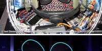 What it looks like inside of Deadmau5's mau5 head.