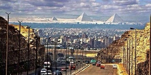 The Pyramids From Cairo