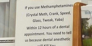 Do people on meth go to the dentist?
