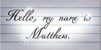 Progression of handwriting.
