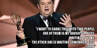 Patton Oswalt, after winning an Emmy, pays tribute to his wife, who passed away this year
