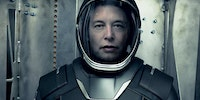 Elon Musk wearing SpaceX's new spacesuit prototype