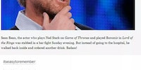 Tumblrites discuss Sean Bean