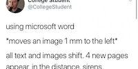 MS Word is a jerk.