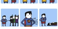 Awkward Superman.