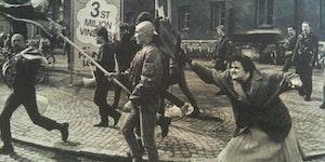 This woman, hitting a skinhead 1983