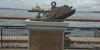 Elaborate Bronze Memorial Dedicated to Staten Island Ferry Octopus Attack Tricks Tourists