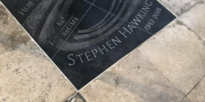 Final resting place of Stephen Hawking in Westminster Abbey. Next door to Isaac Newton.