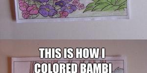 Coloring books can be fun.