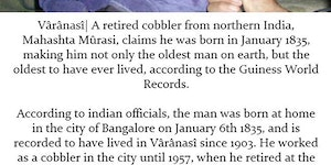 The oldest man on earth