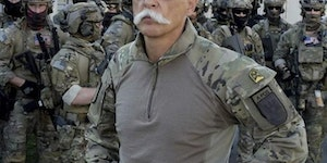 This guy's mustache looks like it has 15 confirmed kills by itself