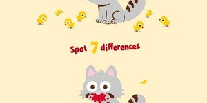 Spot 7 differences.