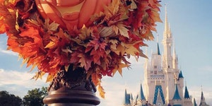 Fall decorations at Magic Kingdom