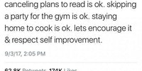 Respect self improvement