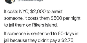 Crime doesn't pay.