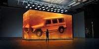 Mercedes Benz G-Class suspended in resin, for reasons...