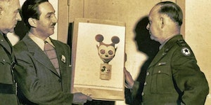 Walt Disney designed a gas mask for children during World War II