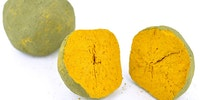 Indian Yellow - A rare color pigment derived from dried urine from cows which are fed only mango leaves.