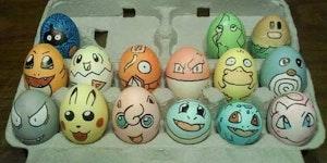 Poke eggs.