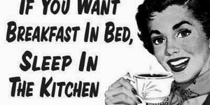 Sleep in the kitchen.