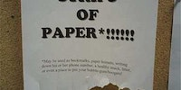 Free strips of paper!!!