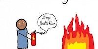 Fire distinguisher.