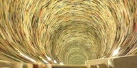 A tunnel of books.