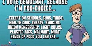 I vote democrat