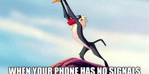 When your phone has no signal...