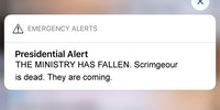 Presidential Alert - The ministry has fallen.