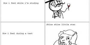 How I feel during a test.