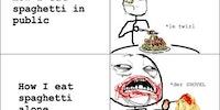 How I eat spaghetti.