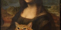 Mona Lisa's cat.