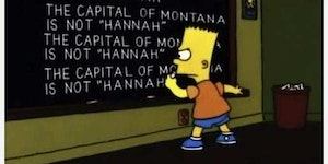 Oh Bart...