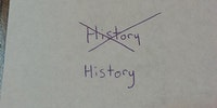 Rewriting history.