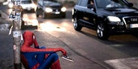 Sad Spiderman is sad.
