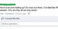 Why are they all carrying candy?