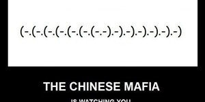 Chinese mafia emoticon.