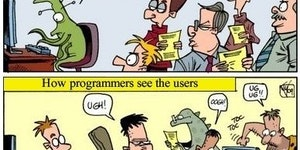How programmers see users.
