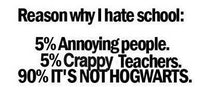 Reasons why I hate school.