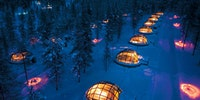 Finnish hotel and igloo resort.